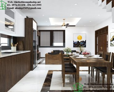 Thiết kế nội thất phòng bếp biệt thự đẹp NDNTBT3