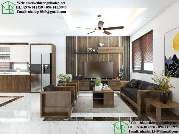 Thiết kế nội thất phòng khách biệt thự NDNTBT3