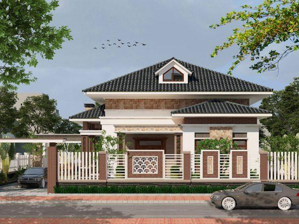 Tính thẩm mỹ trong kiến trúc kiểu nhà mái thái