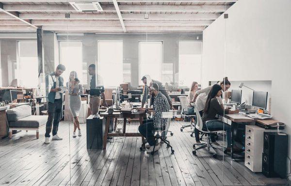 Văn phòng mở tạo nên sự chuyên nghiệp và năng động