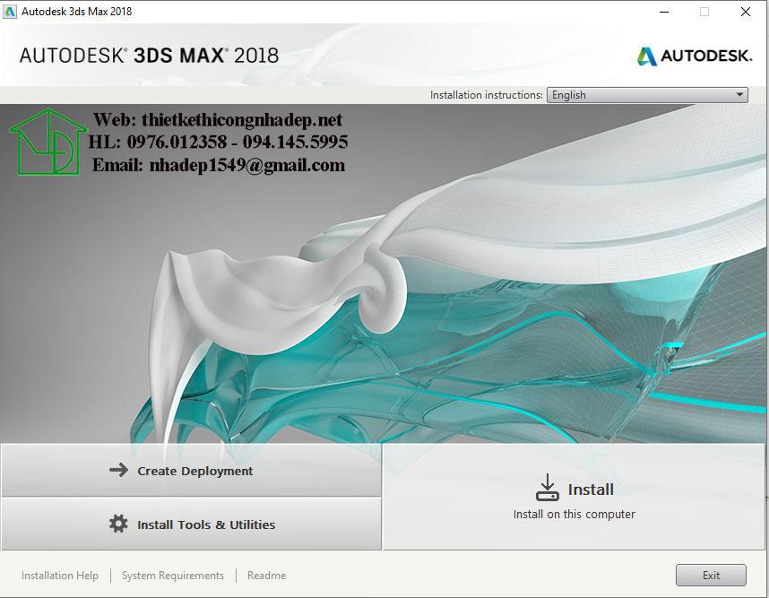 Hướng dẫn cách cài đặt và crack 3ds Max 2018
