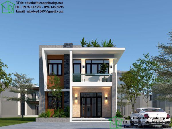 Giá xây nhà phố 2 tầng 3