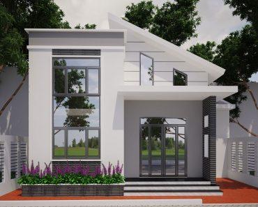 Biệt thự vườn 1 tầng rưỡi phong cách hiện đại