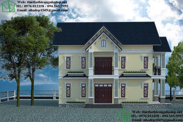 Mẫu nhà đẹp 8x16m NDBT2T64