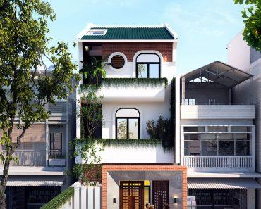 kiến trúc nhà phố 3 tầng đẹp nhất Hưng Yên