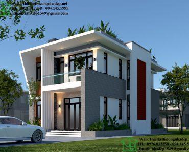 Thiết kế nhà 2 tầng hiện đại NDBT2T65