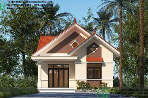 Thiết kế nhà vườn 1 tầng 3 phòng ngủ NDBT1T80