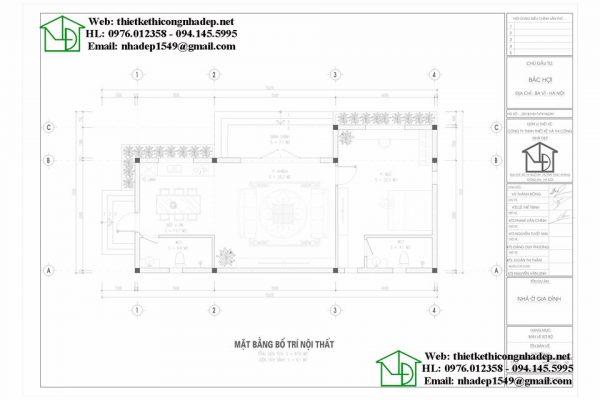 bản vẽ thiết kế công năng sử dụng nhà vườn mái thái