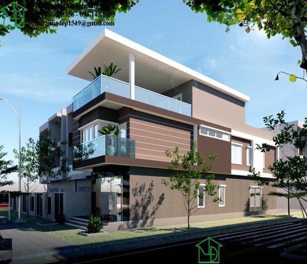 mẫu thiết kế nhà 3 tầng mặt tiền 5m