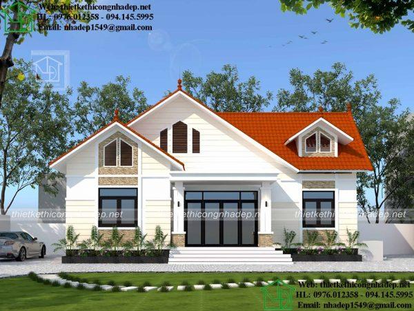 Mẫu thiết kế nhà vườn mái thái NDBT1T81