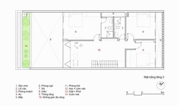 mô hình nhà phố 3 tầng