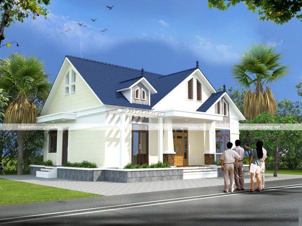 Nhà cấp 4 3 phòng ngủ mái thái 12×10 đẹp tại Thái Bình