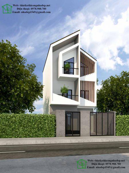 nhà phố 3 tầng 7x11m hiện đại tại Quảng Ninh
