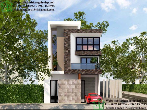 mẫu nhà phố đẹp 3 tầng 7x14m 1