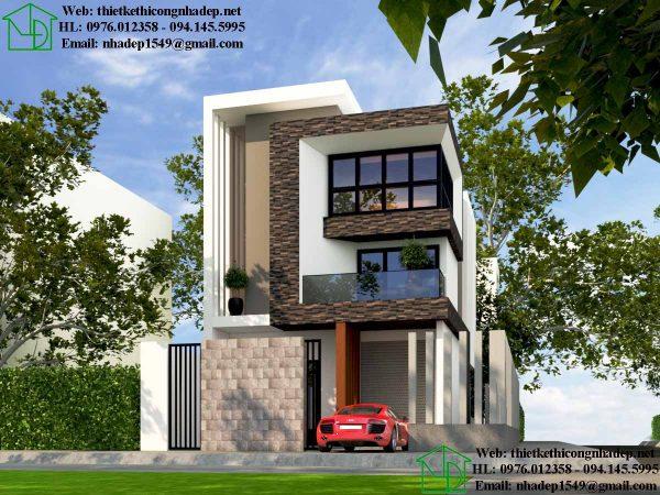 mẫu nhà phố đẹp 3 tầng 7x14m 2