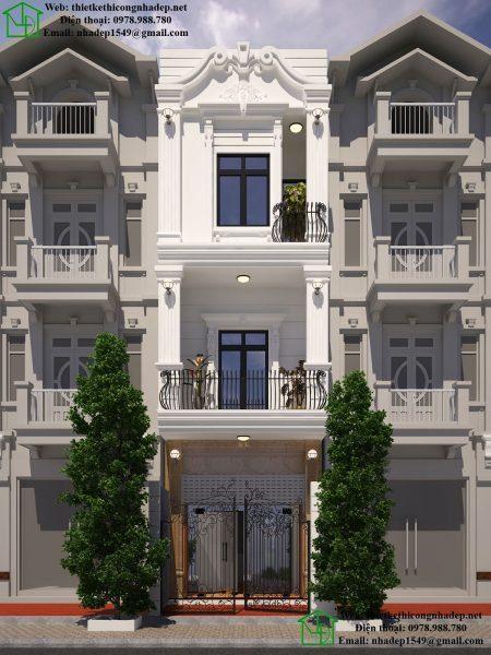 nhà phố 3 tầng có thiết kế đẹp