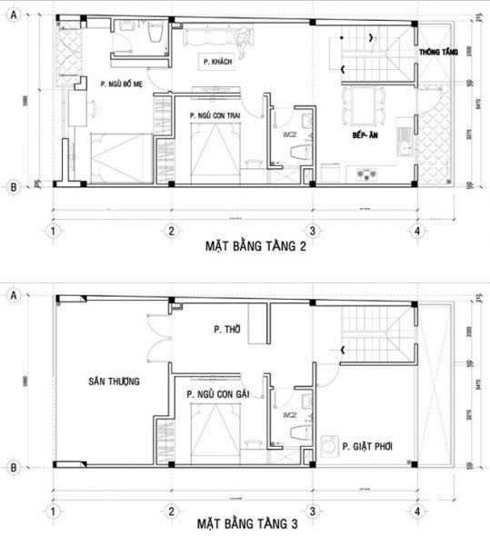 nhà phố 3 tầng kết hợp kinh doanh