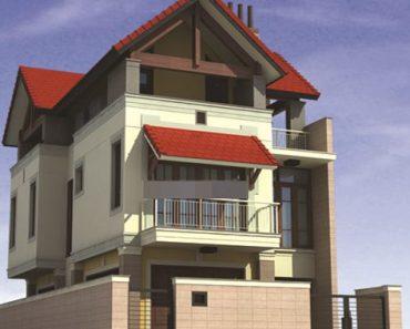 nhà phố 3 tầng mái ngói