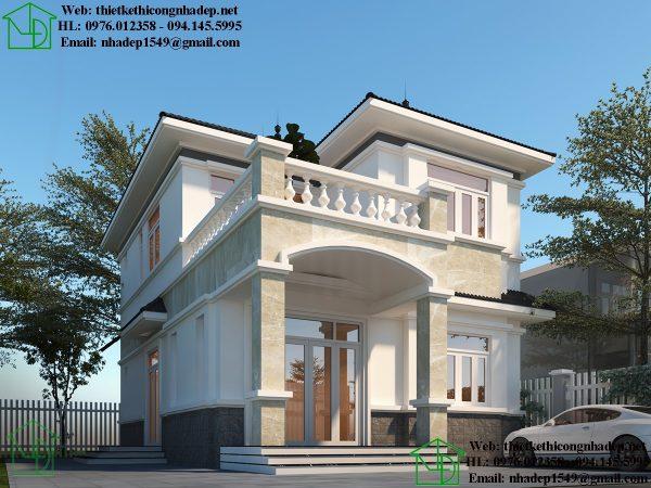 Thiết kế biệt thự 2 tầng tân cổ điển NDBT2T66