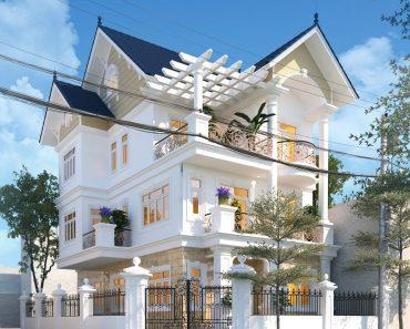 Thiết kế biệt thự 3 tầng tân cổ điển NDBT3T15