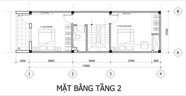 thiết kế xây dựng nhà phố 3 tầng đơn giản