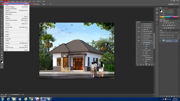 Tạo file mới trong photoshop