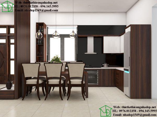 Thiết kế nội thất phòng bếp đẹp NDBT1T91
