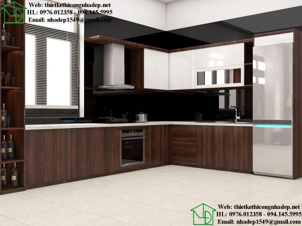 Tủ bếp đẹp gỗ công nghiệp NDBT1T91