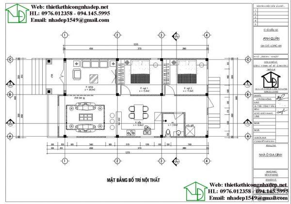 Mẫu nhà cấp 4 7x14m NDNC4105