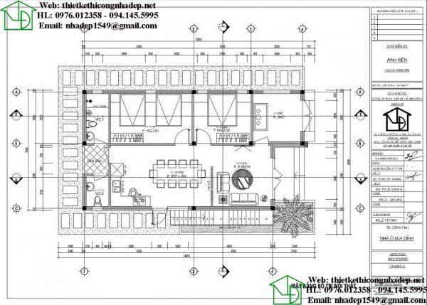 Mẫu nhà cấp 4 8x15m NDNC4100