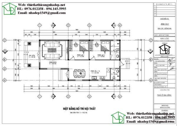 Nhà cấp 4 mái thái 7 x14m NDNC4107