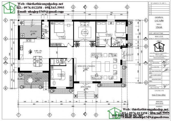Biệt thự nhà vườn 1 tầng 200m2 NDBT1T102