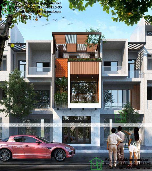mẫu nhà phố 3 tầng 4.5x15m NDNP3T46