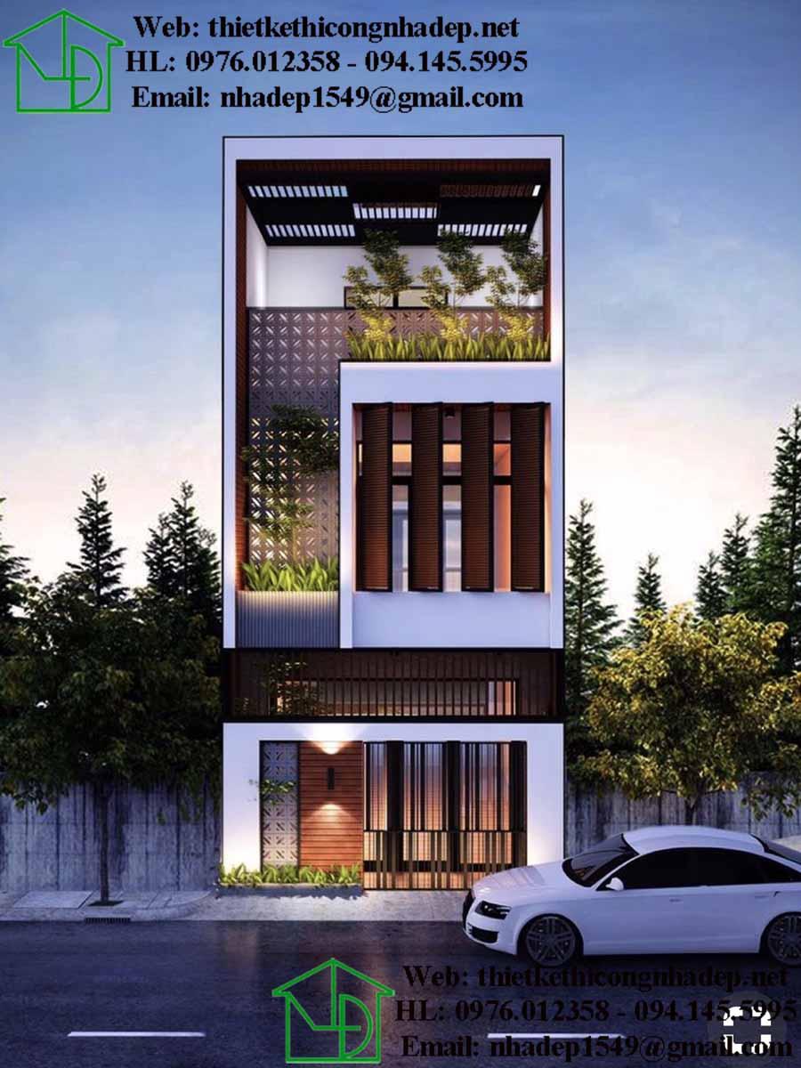 Nhà lô 2 tầng đẹp kết hợp màu sắc hoàn hảo.