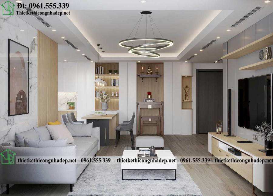 Thiết kế nội thất chung cư Hà Nội đẹp và sang trọng